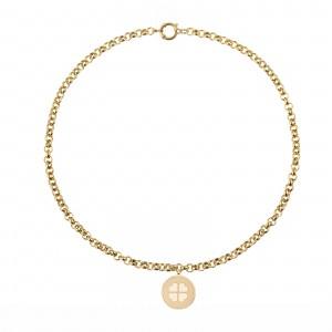 Naszyjnik łańcuch, koniczyna, złoty S3V72103-Z