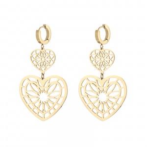 Kolczyki serca, kolor złoty S2V71563-Z