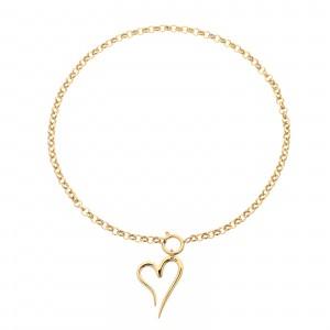 Naszyjnik serce, złoty S3V72052-Z
