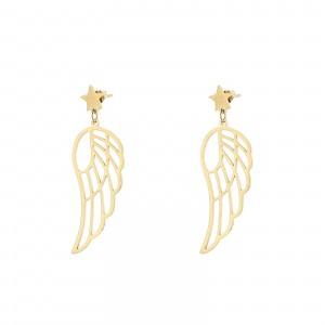 Kolczyki skrzydła, kolor złoty S2V71559-Z