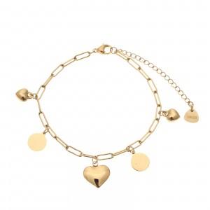 Bransoletka serce, kolor złoty S1V71941-Z