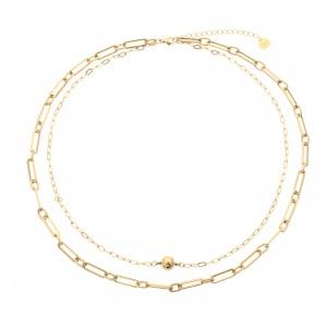 Naszyjnik, łańcuch, kulka, złoty S3V71918-Z