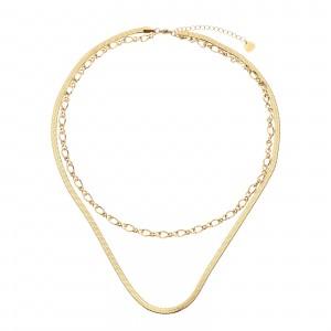 Naszyjnik łańcuch, złoty S3V71922-Z