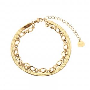 Bransoletka łańcuch, kolor złoty S1V71756-Z