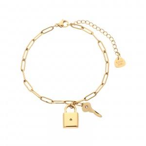 Bransoletka kłódka, kolor złoty S1V71831-Z