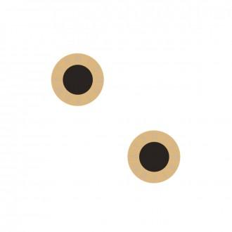 Kolczyki kółko, czarny, złoty S2V71327-Z