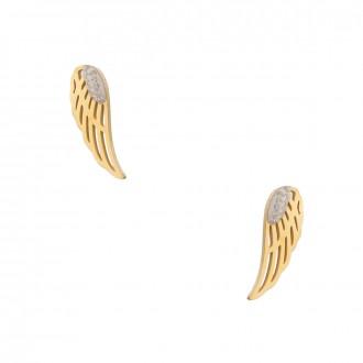 Kolczyki skrzydełko, kolor złoty S2V71340-Z